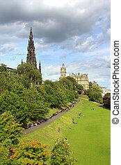 edimbourg, jardins, scott, monument, princesse