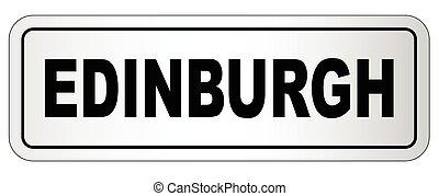 edimbourg, plaque, ville