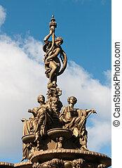 edimbourg, statue fontaine, ross