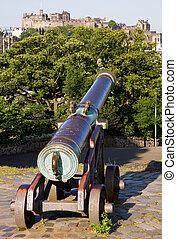 Edinburgh Castle and Cannon