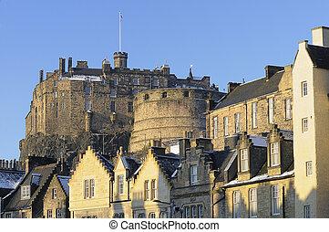 Edinburgh Castle and Grassmarket - Edinburgh Castle and the...