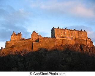 Edinburgh Castle at dusk, Scotland