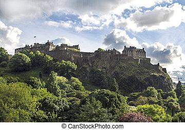 Edinburgh Castle cloudy Sky