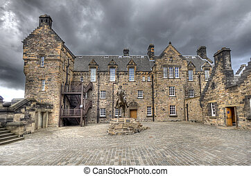 Edinburgh Castle Courtyard - Statue of Field Marshal Douglas...