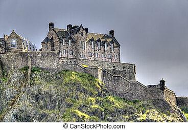 Edinburgh Castle in Evening light