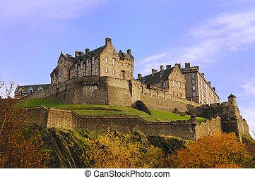 Edinburgh Castle on a beautiful clear, crisp fall day.