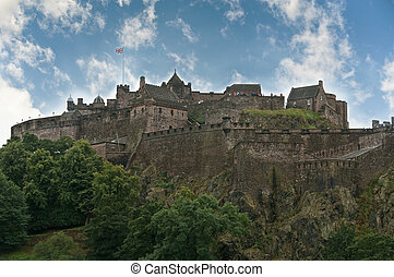 Edinburgh castle on a clear sunny day in Scotland