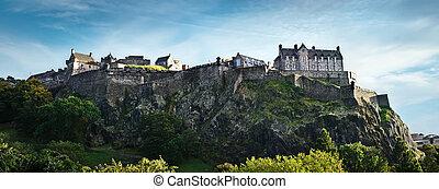 Edinburgh castle panorama - Edinburgh castle wide panoramic...
