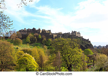 edinburgh castle rock - famous place in scotland - medieval...