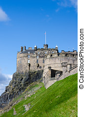 Edinburgh Castle, Scotland - Edinburgh Castle, Eastern view,...