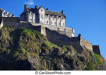 Edinburgh Castle , Scotland, UK - Sundown at Edinburgh...
