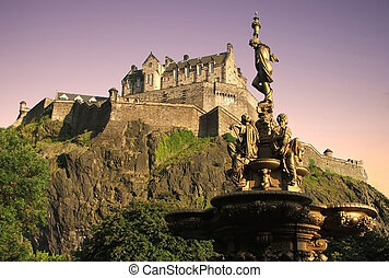 Edinburgh Castle, World Heritage Site, as viewed from...