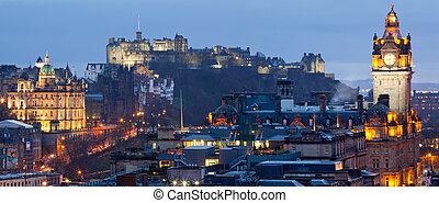 Edinburgh Cityscape Panorama