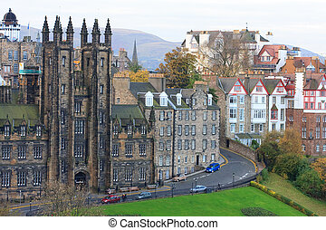 edinburgh, facades, woning