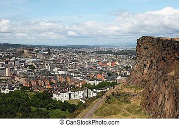 edinburgh from salisbury\'s crag - some view of edinburgh...