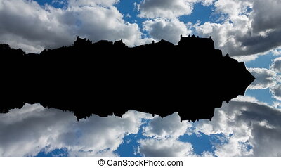 Edinburgh hill with castle backlight reflection - Edinburgh...