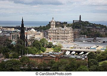 Edinburgh in Scotland, UK