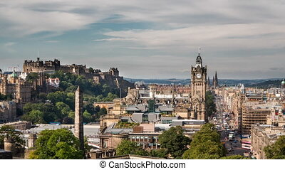 Edinburgh old town Timelapse from carlton hill (available in...