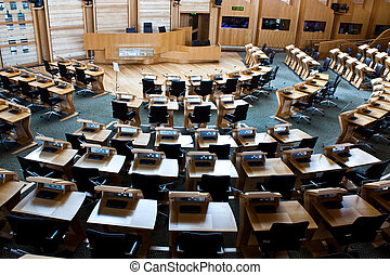 Edinburgh parliament - Interiors of Edinburgh Parliament,...