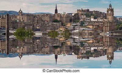 Edinburgh reflection in old town - Edinburgh old town...