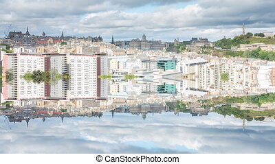 Edinburgh reflection, Scotland - Edinburgh Cityscape hyper...