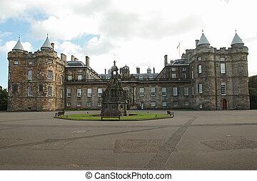 Edinburgh, Scotland - AUGUST 30: Holyrood palace on August...