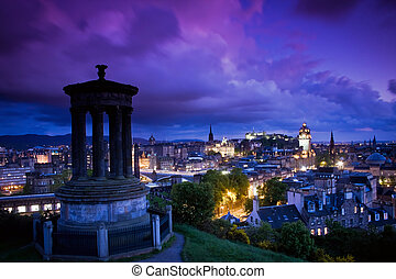 Edinburgh Scotland - Edinburgh city centre seen from Cartin...