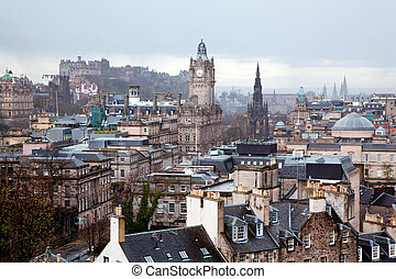 Edinburgh Scotland - Edinburgh Skylines building and castle...
