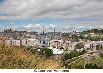 Edinburgh skyline and Calton hill