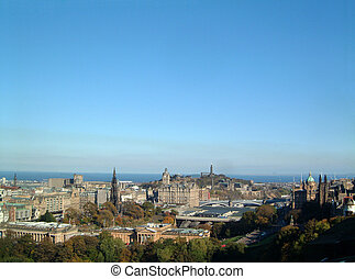 Edinburgh Skyline from the castle esplanade