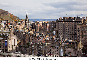 Edinburgh Skylines building Scotland UK from Monument