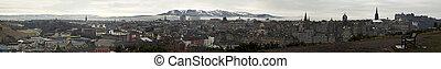 Edinburgh winter panorama