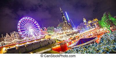 Edinburgh's Christmas market on Princess Gardens street