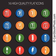 edit 16 flat icons