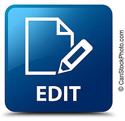 Edit blue square button