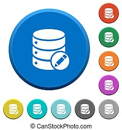 Edit database beveled buttons