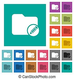 Edit directory square flat multi colored icons