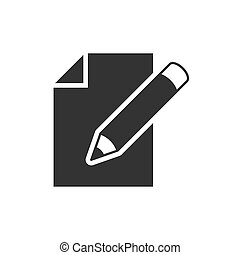Edit document black icon