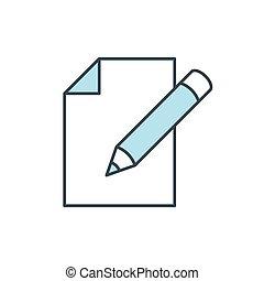 Edit document color line icon