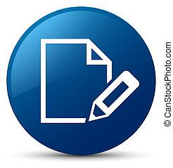 Edit document icon blue round button