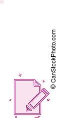 edit document icon design vector