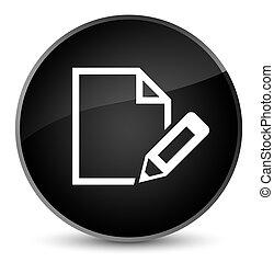 Edit document icon elegant black round button