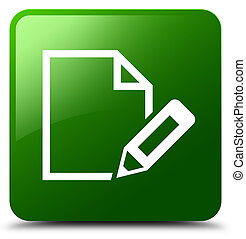Edit document icon green square button