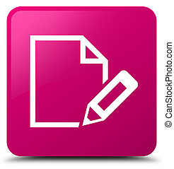 Edit document icon pink square button