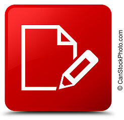 Edit document icon red square button