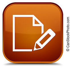 Edit document icon special brown square button