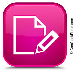 Edit document icon special pink square button