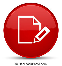 Edit document icon special red round button