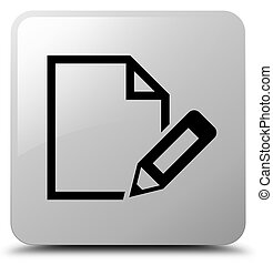 Edit document icon white square button