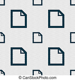 Edit document sign icon. content button. Seamless abstract background with geometric shapes.